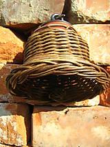 Dekorácie - Zvonec z pedigu + keramika morený - 5531809_