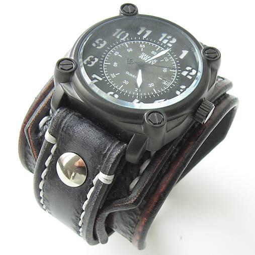 28dbd3701 Gotické kožené hodinky hnedo čierne / leon - SAShE.sk - Handmade Náramky