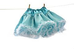 Detské oblečenie - Azúrová sukienka točivá - 5531313_
