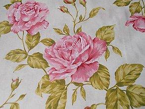 Textil - jednoducho ruža - 5531761_