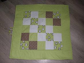 Úžitkový textil - Detská hracia deka sovičková - 5538515_