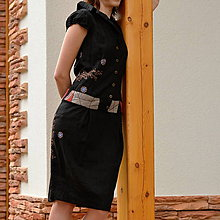 Šaty - Ľanové šatičky - 5535016_