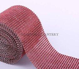 Galantéria - Kamienková stuha červená - cena za 10 cm - 5537449_