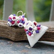 Sady šperkov - fuchsia&violet - sada s príveskom - 5537372_