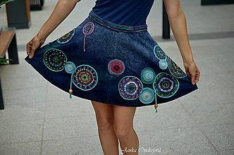 Kresby - Maľba na Vašu sukňu Mandaly a Letokruhy I. - 5537534_