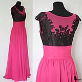 Šaty - Spoločenské šaty s tylovým živôtikom a krajkou - 5536582_