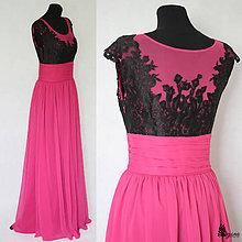 11d6dc16603a Šaty - Spoločenské šaty s tylovým živôtikom a krajkou - 5536582