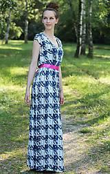- Dlhé šaty s riasením  v páse ZĽAVA!! - 5540095_