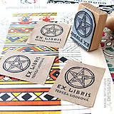 Drobnosti - Pentagram: pečiatka 3x4 cm - 5538802_