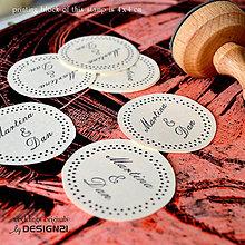 Drobnosti - Bodkovaný veniec: pečiatka prům. 4 cm - 5538692_
