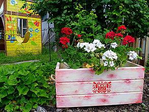 Nádoby - Veľký drevený kvetináč-truhlica-debna-vidiek :) - 5539071_