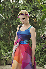 - CRYSTAL RAINBOW - šaty - 5539088_