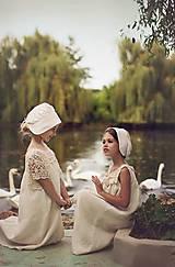 Detské čiapky - Čepiec pre dievčatká - 5540805_