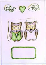 Papiernictvo - Zvieracia svadba - sovičky - 5538767_