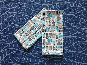811801dfb Detské doplnky - Návleky/slintáčiky na ergonomické nosiče - modré mini sovy  - 5545068_