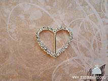 Galantéria - Ozdobná aplikácia Srdce - 5544196_