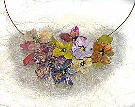 Náhrdelníky - kvetinový náhrdelník keď slnko zapadá - 5543932_