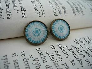 Náušnice - Náušnice Retro blue - 5544902_