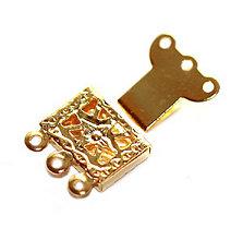 Komponenty - Mechanické zapínanie - Star, zlaté - 5543725_