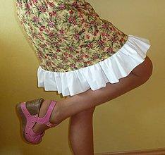 Sukne - Kvietky na slniečkovej - akcia 50 % - 5544221_