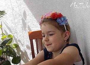 Ozdoby do vlasov - čelenka pre Ruženku - 5541776_