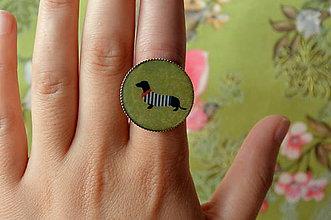 Prstene - Pan Jezevčík na Riviéře  - prsten 25 mm - 5543272_