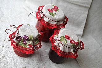 Úžitkový textil - klobúčiky zaváraninové - 5542738_
