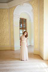 Šaty - Spoločenské šaty s vyšívanou krajkou rôzne farby - 5541945_