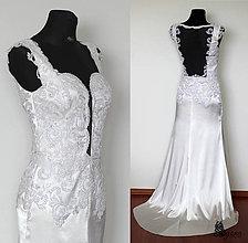 Šaty - Svadobné šaty s holým chrbátom - 5542917_