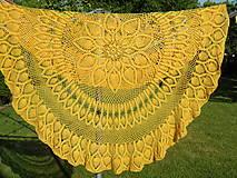 Úžitkový textil - Slnko v sieti-mega háčkovaná dečka - 5542131_