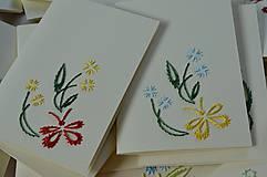 Papiernictvo - Vyšívané pohľadnice - 8 - Motýlie rastlinky - 5542724_
