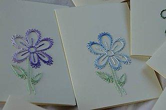 Papiernictvo - Vyšívané pohľadnice - 4 - Slnečnica - 5542645_