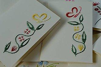 Papiernictvo - Vyšívané pohľadnice - 7 - Ťahavá rastlinka - 5542660_