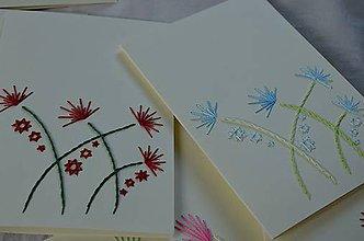Papiernictvo - Vyšívané pohľadnice - 9 - Klinčeky - 5542779_