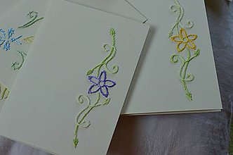 Papiernictvo - Vyšívané pohľadnice - 11 - Skalná ruža - 5542800_
