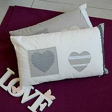 Úžitkový textil - Heart Polka Dots ... polštář Sleva z 15,90 - 5545214_