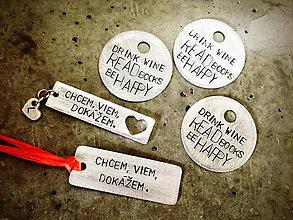 Kľúčenky - MIX - 5ks  / 1mm + 2mm hrúbka / cena za všetko - 5546936_
