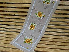 Úžitkový textil - Štóla slnečnice - 5545741_