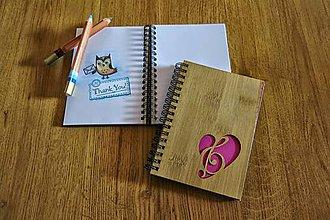 Papiernictvo - Zápisník - láska k hudbe - 5545442_