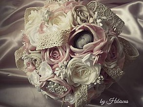 Kytice pre nevestu - Shabby chic bouquet - 5549200_