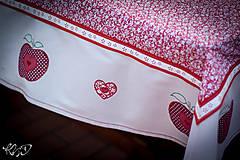 Úžitkový textil - Jabĺčkový obrus :-) - 5548333_