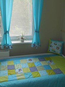 Úžitkový textil - Komplet Tyrkys-limetka - 5547657_