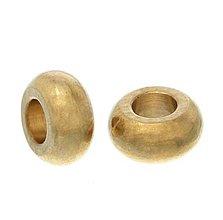 Korálky - Kovová korálka 7x3 mm - 5548378_