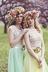 """Ozdoby do vlasov - Venček """"kráľovná letných záhrad"""" - 5547576_"""