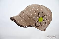 Detské čiapky - Natur šiltovka ⒹⓄⓉⓈ pistácia - 5549815_