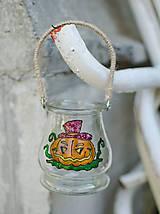 Závesný sklenený lampáš