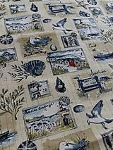 Textil - 100%-ná bavlna - Seaside greetings - 5547764_