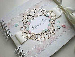 Papiernictvo - Svadobná kniha hostí - 5550383_
