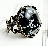 Vintage Bronze Snowflake Obsidian