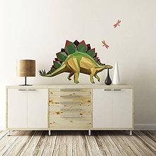 Dekorácie - Stegosaurus - samolepky na stenu - 5552432_